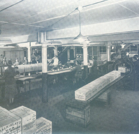 Bottling Whisky at the Mitchell Street Bond of Charles Mackinlay and Co.Ltd