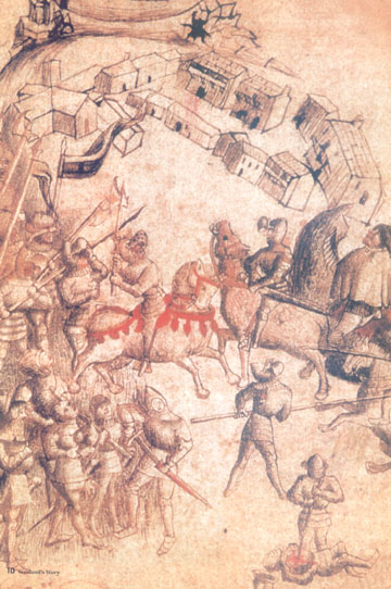 The Battle of Bannockburn from the Scotchchronicon