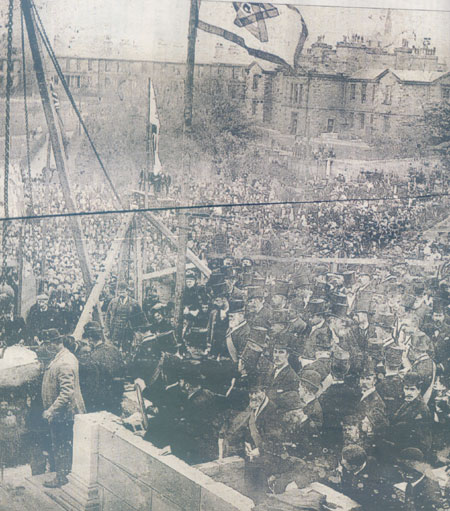 The laying of the Foundation Stone at Leith Academy 1896