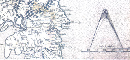 Map of the South of ScotLand 1566