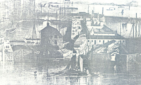Leith Docks from the Signal Tower 1838