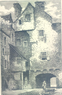 The Rear of Huntly House showing Bakehouse Close 1883