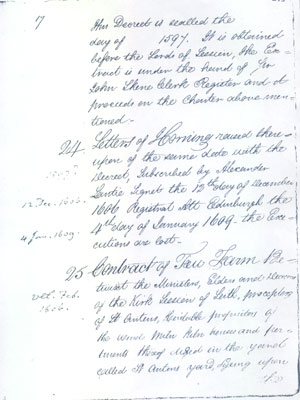 Letters of Horning is to declare someone (not mentioned) an outlaw