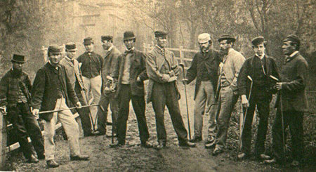 Grand golf tournament by professional players, 1867