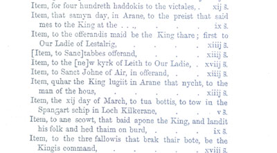 From the Accounts of James IV
