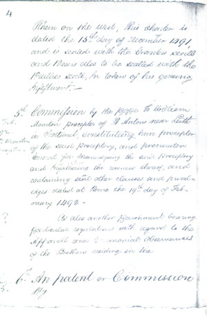 Charter of Appointment of William Mouston as Preceptor of St Anthony 1492