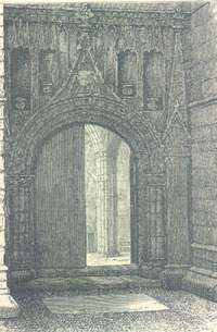 North entrance to nave of Holyrood Abbey