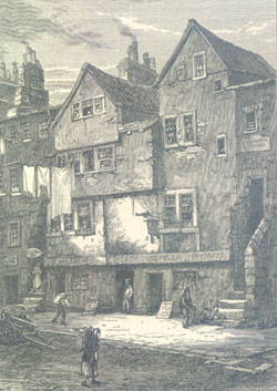 Old Houses in the Cowgate near the South Bridge 1850