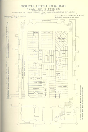 Plan of South Leith Church 1842