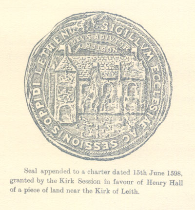 The Seal of South Leith Church 1598