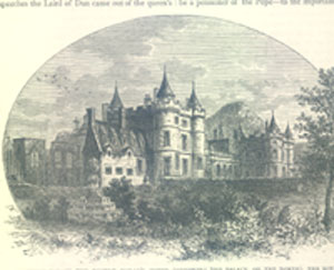 Holyrood Palace showing the Regent Moray's House