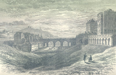 The North Bridge and the Bank of Scotland 1809