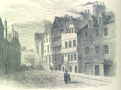 The Palace of Mary of Guise, Castle Hill, Edinburgh, now demolished