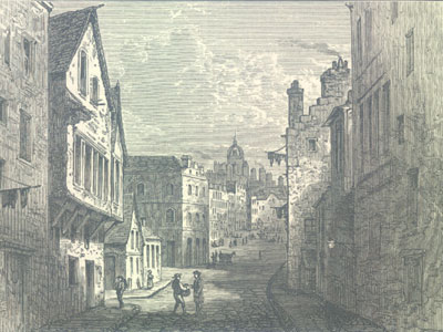The Grassmarket from the West port 1825