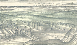Holyrood House and Abbey 17thc
