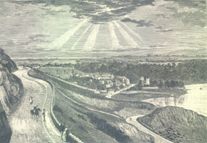 View of Duddinston Village from the Queens Drive