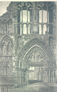 West front of Holyrood Abbey
