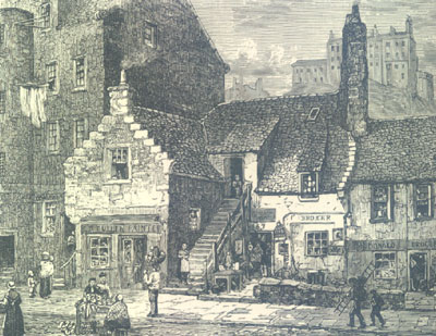 Old Houses in the West Port near to the haunts of Burke and Hare 1869