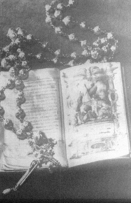 The golden rosary and prayer book carried by Mary,Queen of Scots at her execution 1587